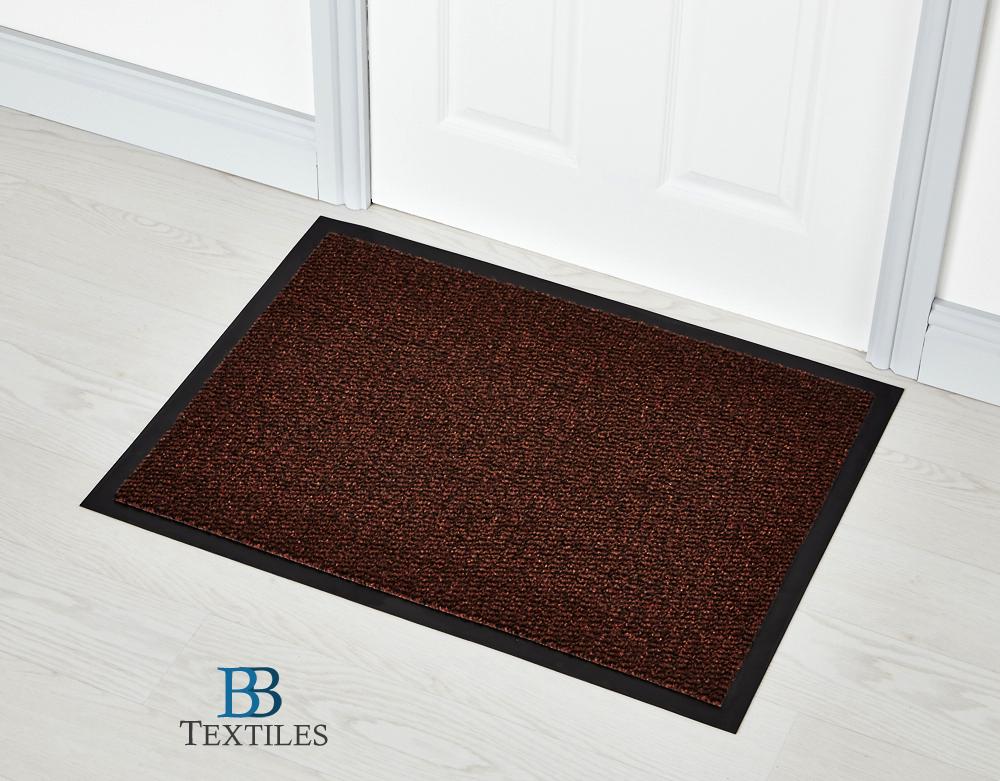 Terracotta Washable Non Slip Faro Rubber Backed Door Floor