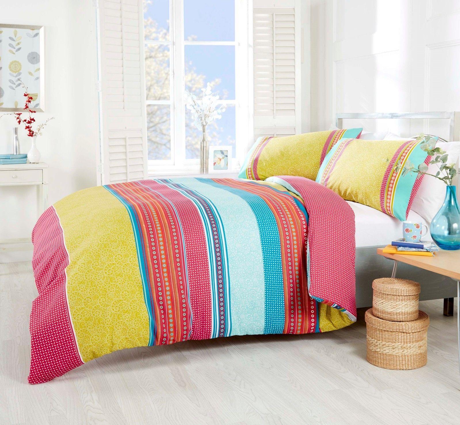 Duvet Covers & Sets Paisley Duvet Cover Reversible Quilt Set With Pillowcases Single Double King Home & Garden