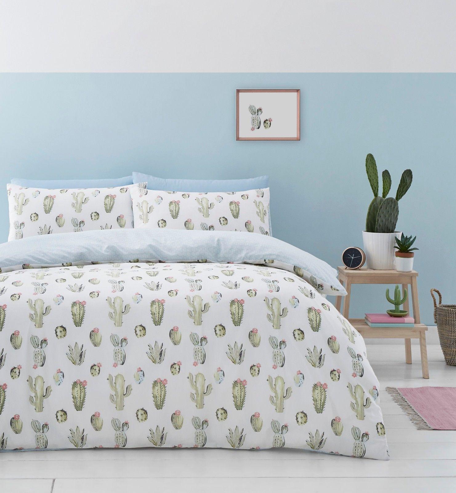 Catherine Lansfield Cactus Cotton Rich Duvet Cover Bedding