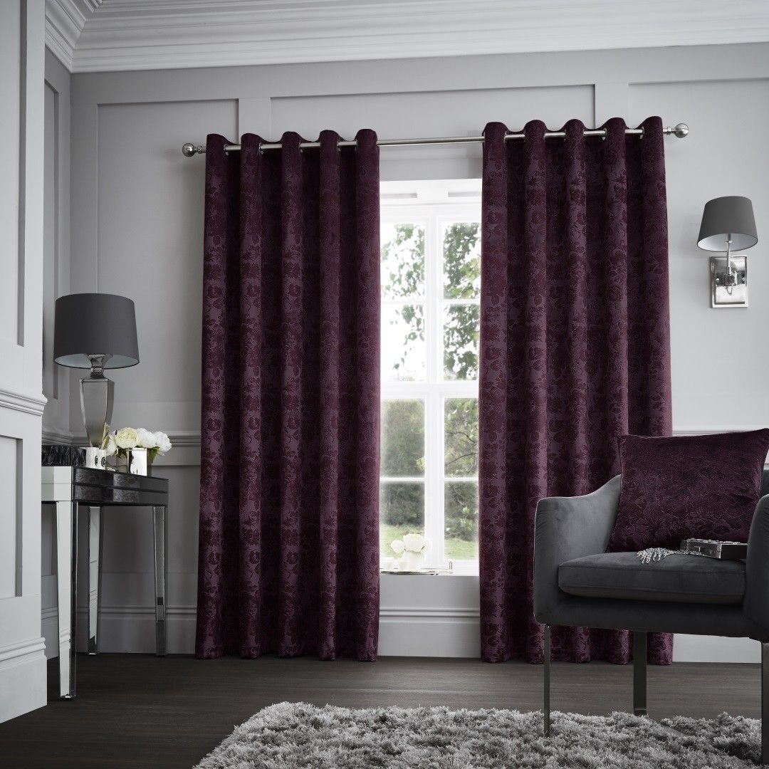 Luxury Designer Curtina Downton Velvet Heavy Weighted
