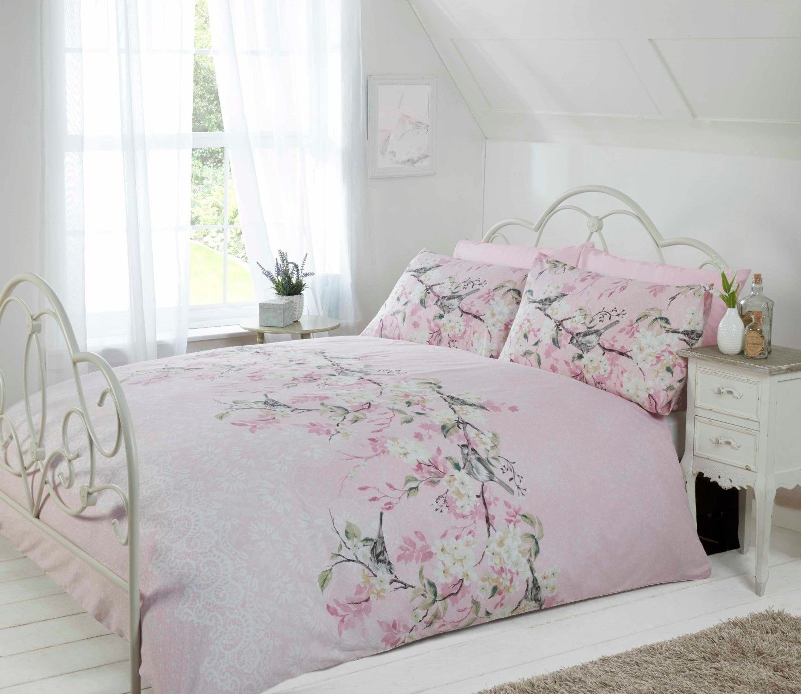 Vintage Inspired Classic Soft Pink Nursery: Rapport Eloise Vintage Floral Shabby Chic Blush/Soft Pink