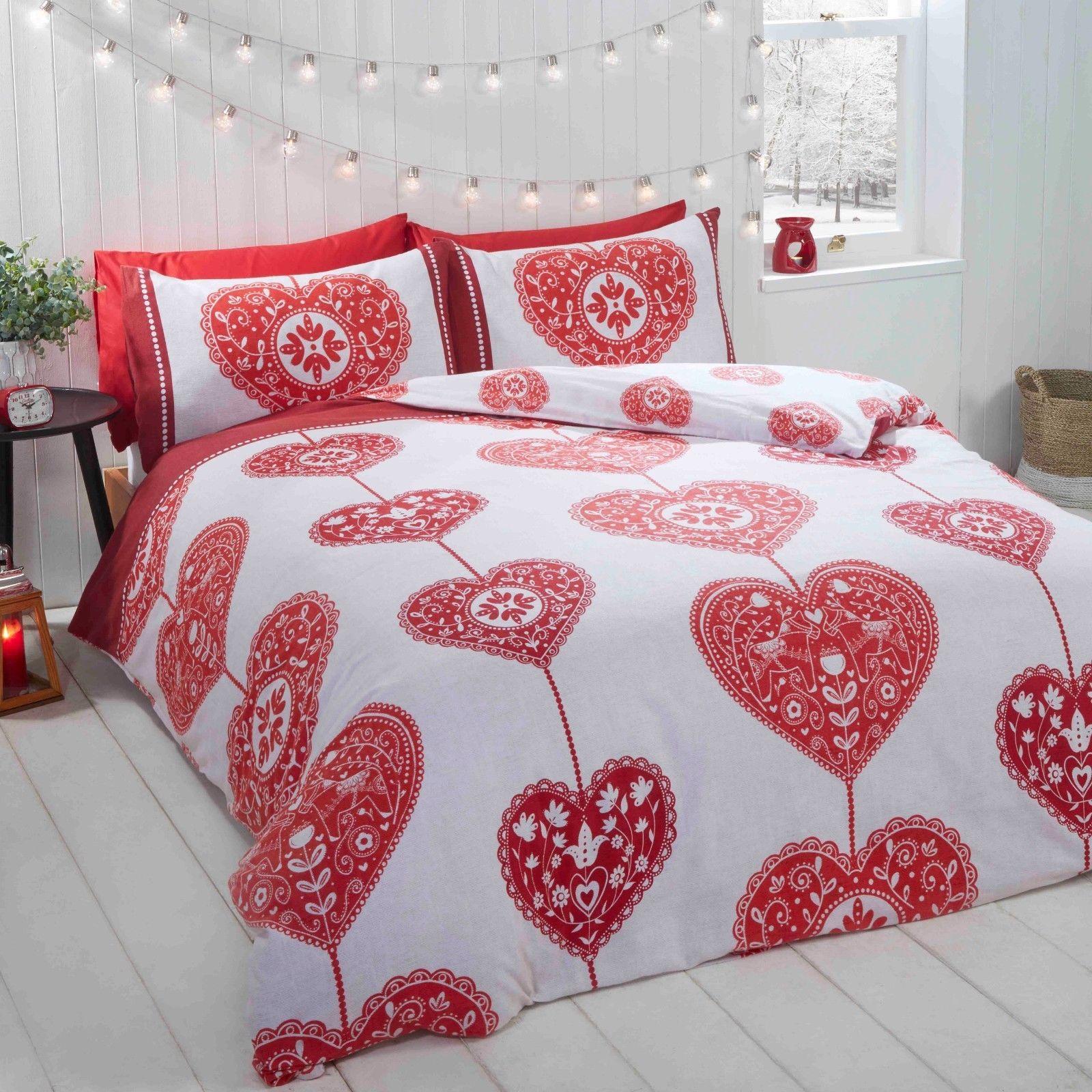 Rapport Skandi Hearts 100 Brushed Cotton Flannelette Duvet