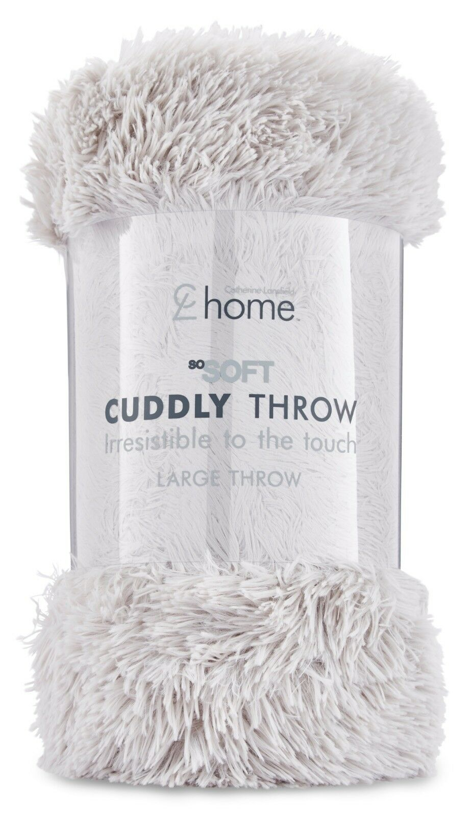 Catherine Lansfield Cuddly Shaggy Pile Soft Faux Fur Throw