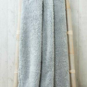 Rapport Sherpa Teddy Bear Fleece Warm Soft Snuggle Throw Blanket Charcoal 2Sizes