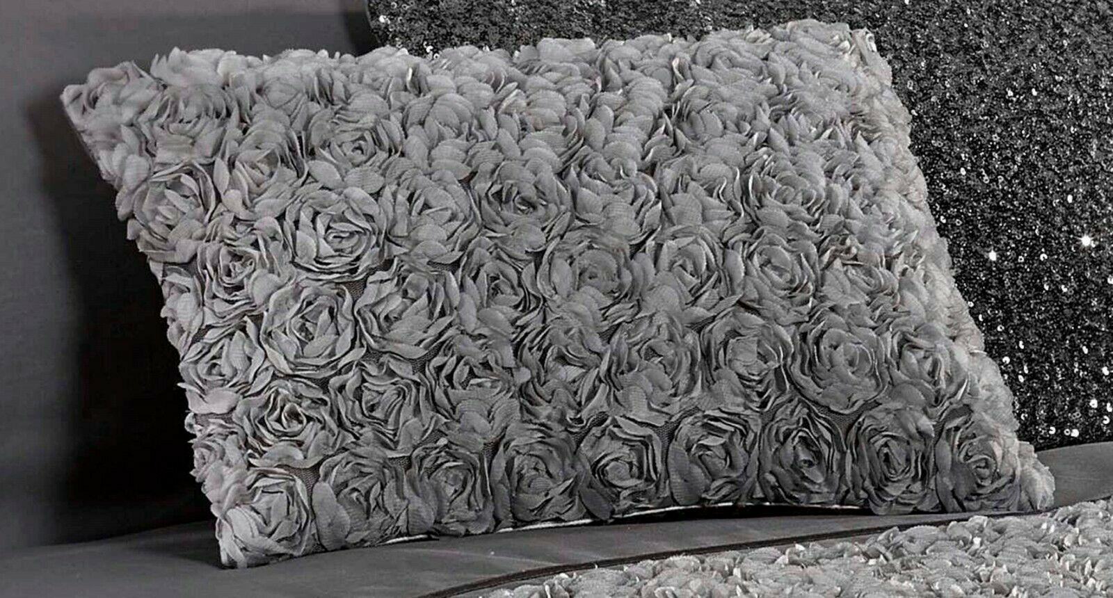 "3fda95459d1b Rapport ""Limoges"" Rose Ruffles Style Band Duvet Cover Bedding Set Grey.  £10.99 ..."