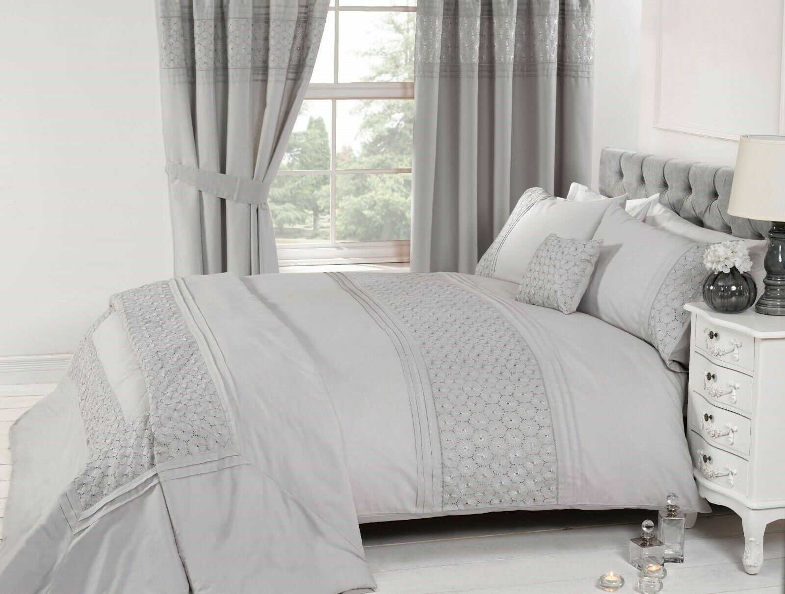 EVERDEAN FLORAL BLUSH PINK DUVET COVER /& PILLOWCASE SET ELEGANT DOUBLE
