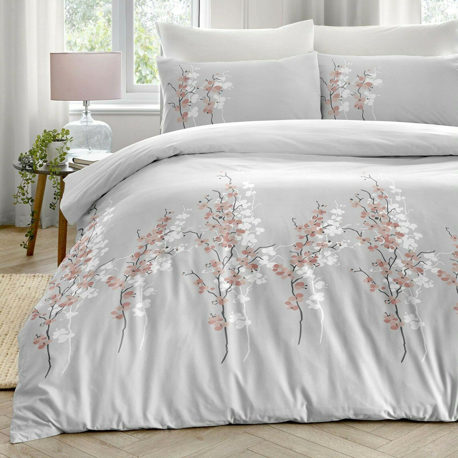 Dreams Drapes Oriental Flower Easy Care Duvet Quilt Cover Bedding Set Pink Bb Textiles Bb Textiles