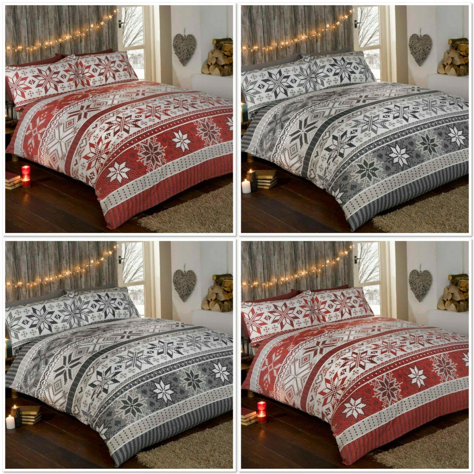 Rapport Stockholm 100 Brushed Cotton Flannelette Duvet Cover Bed