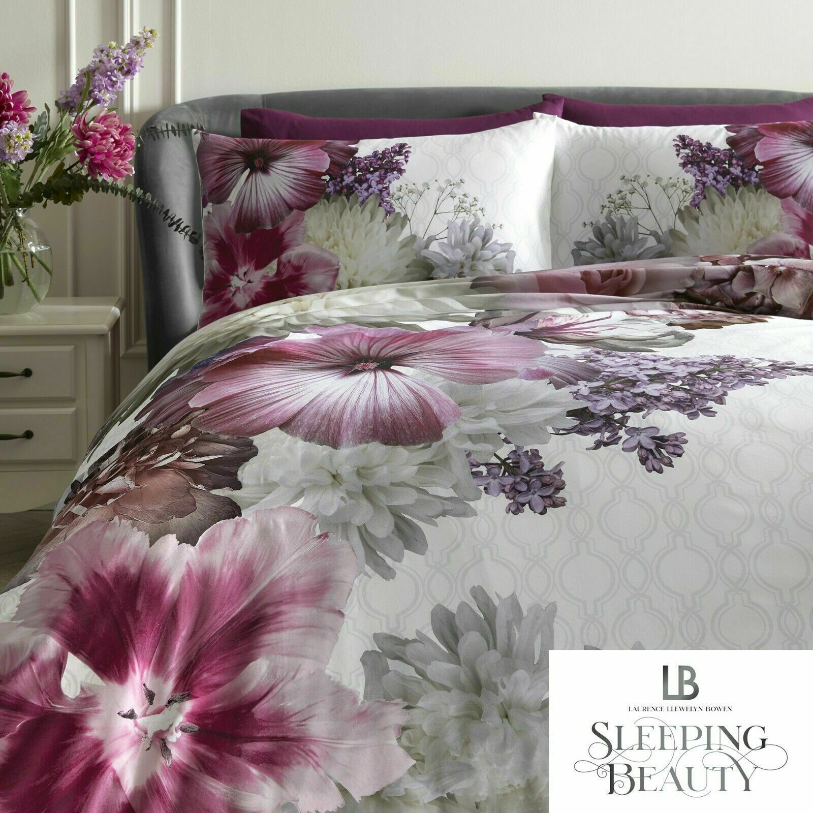 Laurence Llewelyn Bowen Mayfair Lady Floral 100 Cotton Duvet Cover Bedding Set Bb Textiles Bb Textiles